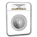 1998 10 oz Silver Canadian Maple Leaf 10th Anniversary MS-66 NGC