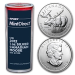 2012 Silver Canadian Moose (25-Coin MintDirect® Tube)