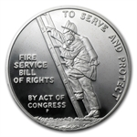 1992 Ben Franklin Firefighters Silver Medal 1oz - PR-69 DCAM PCGS