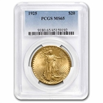 1925 $20 St. Gaudens Gold Double Eagle - MS-65 PCGS