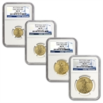 2012 4-Coin Gold American Eagle Set MS-70 NGC (ER)