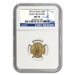 2012 1/10 oz Gold American Eagle MS-70 NGC (Early Releases)