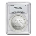 2003-P First Flight Centennial $1 Silver Commemorative MS-70 PCGS