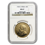 1968 1 oz Gold South African Krugerrand MS-67 NGC Registry Set