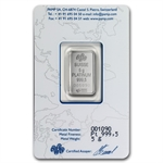 5 gram Pamp Suisse Platinum Bar (in Assay) .999+ Fine