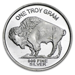 1 gram Freedom Indian Head/Buffalo Nickel Round .999 Fine