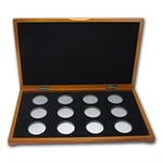 Lunar Series I (1oz Silver) 12 coin Wood Presentation Box