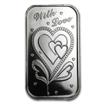1 oz With Love Silver Bar (w/Box & Capsule)