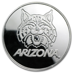1 oz University of Arizona Silver Round .999 Fine