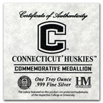 1 oz University of Connecticut Silver Round .999 Fine