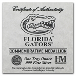 1 oz University of Florida Silver Round .999 Fine