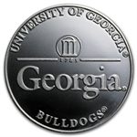 1 oz University of Georgia Silver Round .999 Fine