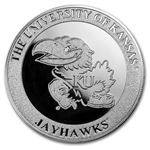 1 oz University of Kansas Silver Round .999 Fine