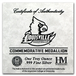 1 oz University of Louisville Silver Round .999 Fine