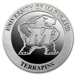 1 oz University of Maryland Silver Round .999 Fine