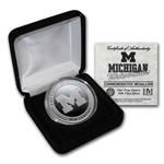 1 oz University of Michigan Silver Round .999 Fine