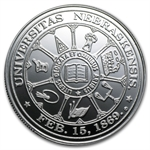 1 oz University of Nebraska Silver Round .999 Fine