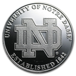 1 oz University of Notre Dame Silver Round .999 Fine