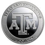 1 oz Texas A&M University Silver Round .999 Fine
