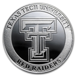1 oz Texas Tech University Silver Round .999 Fine