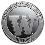1 oz University of Washington Silver Round .999 Fine