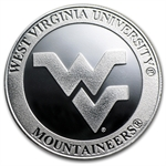 1 oz West Virginia University Silver Round .999 Fine
