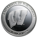 1 oz University of Wisconsin Silver Round .999 Fine