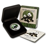 2011 1 oz Proof Silver Giant Panda- Wildlife in Need Series