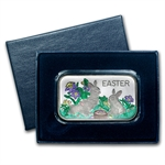 1 oz Easter Enameled Silver Bar (w/Box & Capsule)