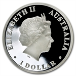 2011 1 oz Proof Silver Killer Whale Coin- Australian Antarctic