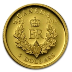 2012 1/10 oz Gold Canadian $5 Diamond Jubilee Royal Cypher
