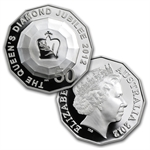 2012 3-Coin Royal Silver Set - Queen's Diamond Jubilee (W/Box)