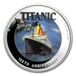 2012 1 oz Proof Silver R.M.S. Titanic 100th Anniversary