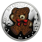 Palau 2011 Proof Silver $5 My Cuddly Bear