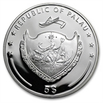 Palau 2012 $5 Proof Silver Four-Leaf Clover - Ounce of Luck