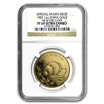 1987 1 oz Gold Chinese Panda - New Orleans PF-69 NGC