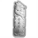 2012 5 gram Colorized Silver Year of the Dragon Bar