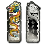 2012 1000 gram Colorized Silver Year of the Dragon Bar