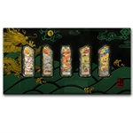 2012 10 gram Colorized Silver Year of the Dragon 5 Bar Set