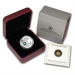 2012 1/4 oz Silver Canadian $3 Birthstone Coin - May Emerald
