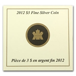 2012 1/4 oz Silver Canadian $3 Birthstone Coin - July Ruby