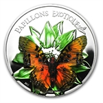 Cameroon 2011 Proof Silver 1,000 CFA Francs Exotic Butterflies 3D