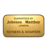 1 oz Johnson Matthey Gold Bar .9999 Fine (London, RNB)