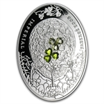 Niue 2010 Proof Silver $2 Imperial Faberge Eggs - Clover Leaf Egg