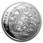 2013 1/2 oz Silver New Zealand Mint $1 Fiji Taku .999 Fine