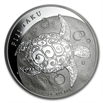 2012 5 oz Silver New Zealand Mint $10 Fiji Taku .999 Fine