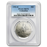 1992-D Columbus Quincentenary Half Dollar Clad Commem MS-70 PCGS