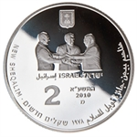 2010 Israel Menachem Begin Proof Silver 2 NIS Coin (W/Box & Coa)