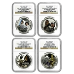 2011 Star Wars Proof Silver 4-Coin Set - Rebels PF-70 UCAM NGC