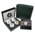 Congo 2011 Silver Proof Magnificent Big Cats 4-coin set